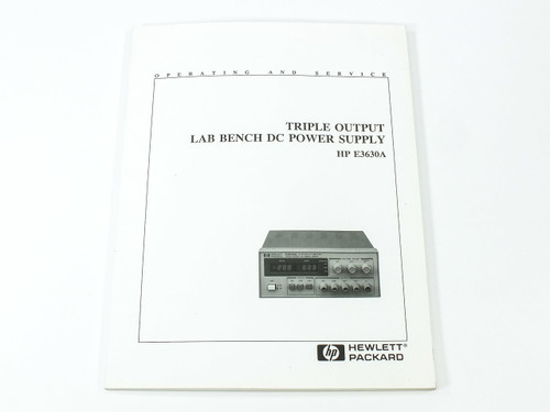 HP E3630A  Triple Output Lab Bench DC Power Supply Operating & Service Manual