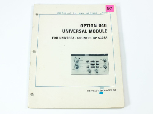 HP 5328A  Opt 040 Universal Module for Universal Counter Install & Service Manua