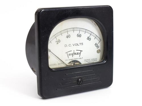 Triplett 327-T  0-100 D.C Volts Gauge