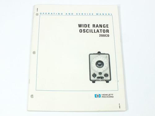 HP 200CD  Wide Range Oscillator Operating and Service Manual