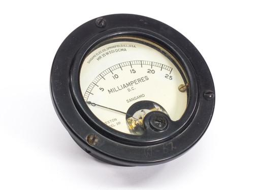 Sangamo Electric 301  0-25 Milliamperes D.C. Gauge
