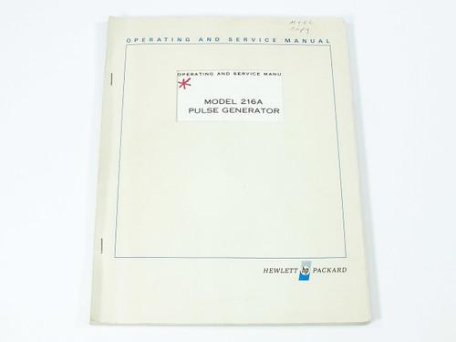 HP 216A  Pulse Generator Operating and Service Manual