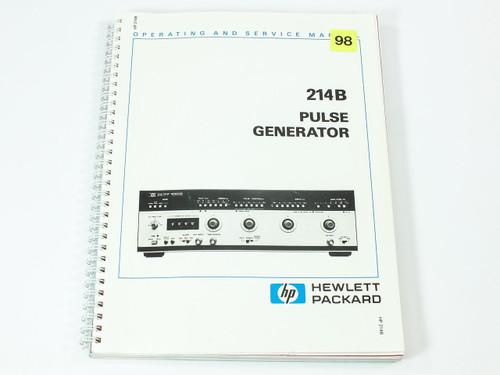 HP 214B  Pulse Generator Operating and Service Manual