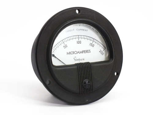 Simpson Electric Model 26  0-200 D.C. Microamperes Gauge