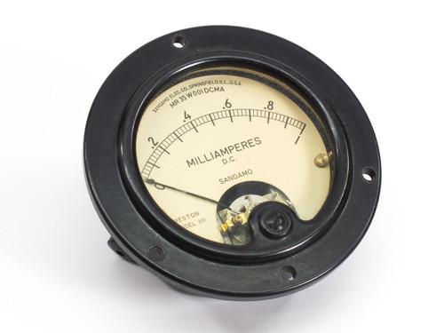 Sangamo Electric 301  0-1 Milliamperes D.C. Gauge