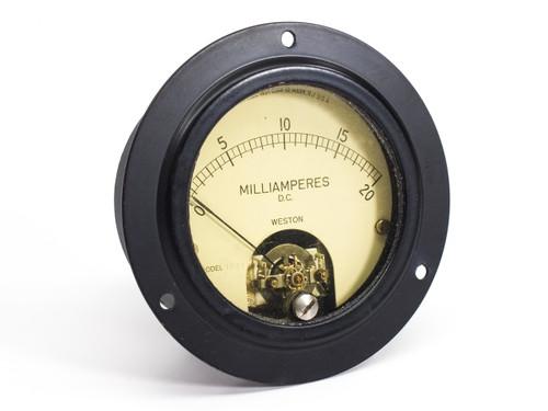 Weston Electrical 1031  0-20 Milliamperes D.C. Gauge