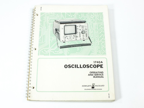 HP 1740A  Oscilloscope Operating and Service Manual