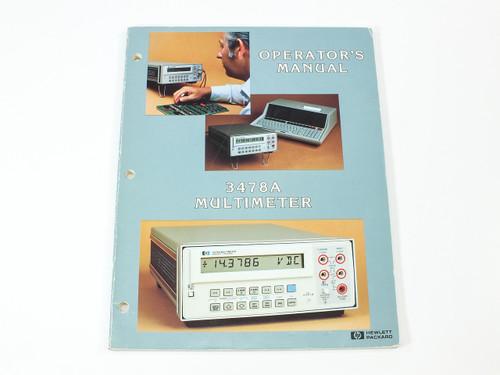HP 3478A  Multimeter Operator's Manual P/N 03478-90005