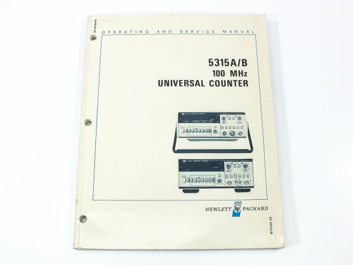 HP 5315A/B  100 MHz Universal Counter Operating & Service Manual