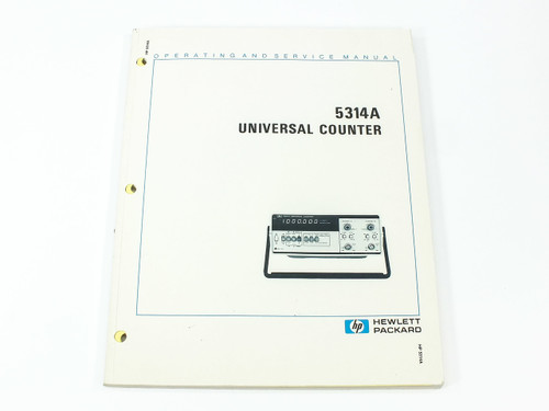 HP 5314A  Universal Counter Operating and Service Manual