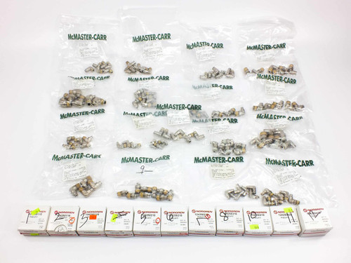 Nickel Plated Brass Instant Tube Fittings 223 Assorted Norgren & McMaster-Carr