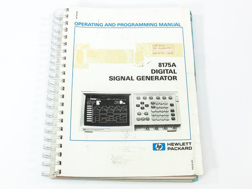 HP 8175A  Digital Signal Generator Operating and Programming Manual