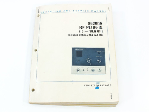 HP 86290A  RF Plug-In 2.0 - 18.0 GHz Operating and Service Manual
