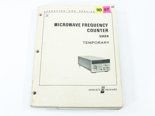 HP 5342A  Microwave Frequency Counter Temporary Operating & Service Manual