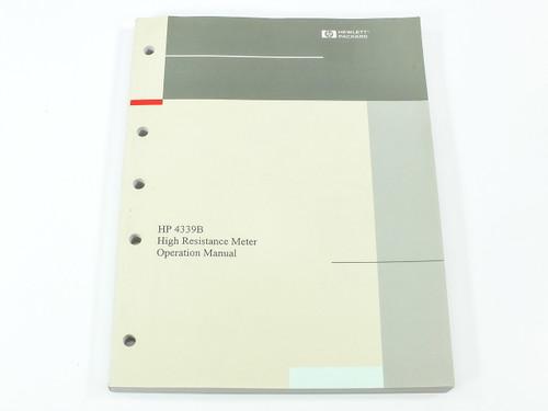 HP 4339B  High Resistance Meter Operation Manual
