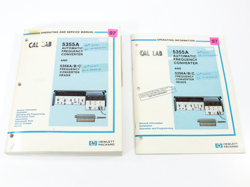 HP 5355A & 5356A/B/C  Frequency Converter & Heads Operating & Service Manual