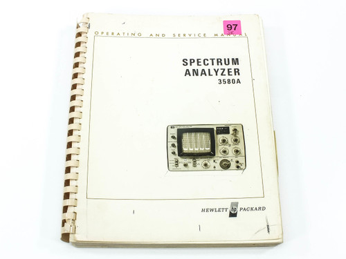 HP 3580A  Spectrum Analyzer Operating and Service Manual - Soft Cover