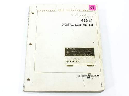 HP 4261A  Digital LCR Meter Operating and Service Manual