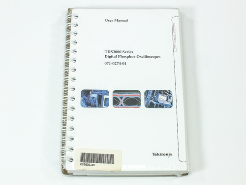 Tektronix TDS3000 Series  Digital Phosphor Oscilloscopes User Manual