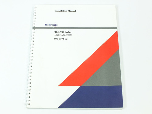 Tektronix TLA 700 Series  Logic Analyzers Installation Manual