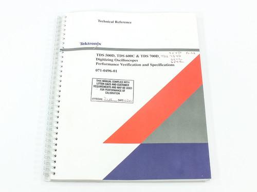 Tektronix 071-0496-01  TDS 500D/600C/700D Digitizing Oscilloscope Tech Reference