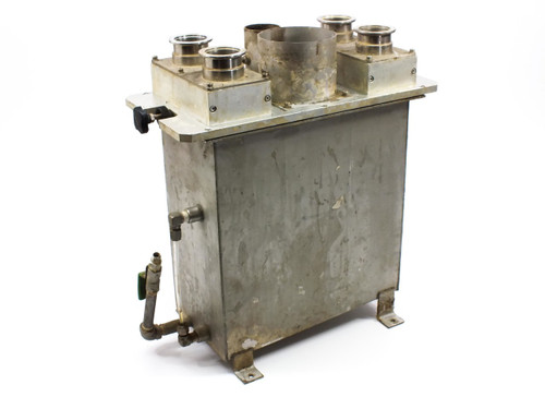 Aluminum Fluid  Chamber with DN40KF Vacuum Flanges and Course Filters