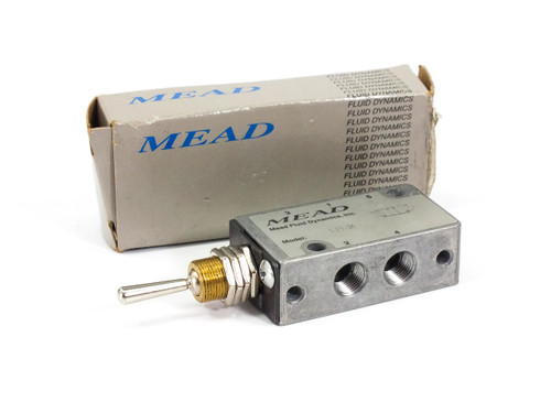 "MEAD LTV-35 Pneumatic Control Valve Flip Toggle 1/8"" NPT"