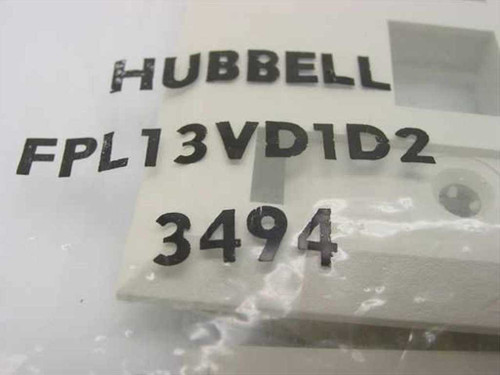Hubbell Network Face Plate with Label Fields, 3 Jack FPL13VD1D2