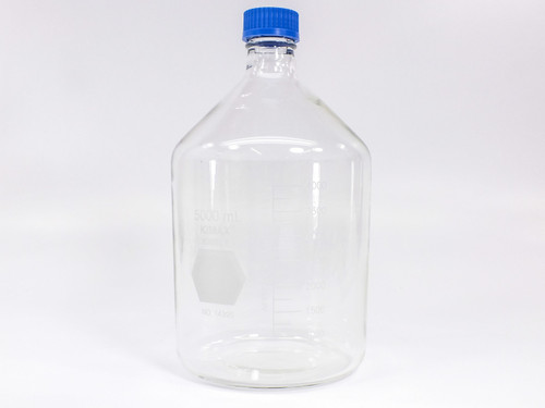 Kimble 14395-5000  KIMAX 5000mL GL 45 Glass Storage / Media Bottle with Cap