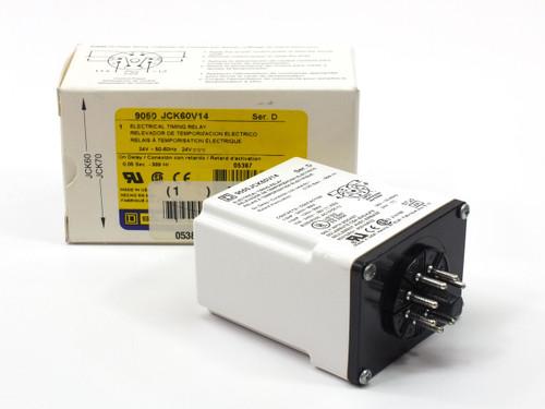 Square D 9050 JCK60V14  Electrical Timing Relay Ser. D