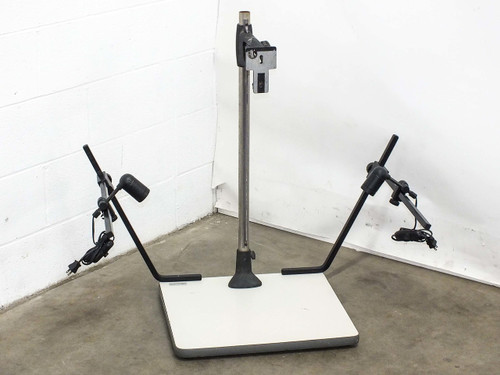 "Leitz Wetzlar Repro  Copy Stand with 2 Lights 32"" Tall Camera Mount 20""x18"" Table"