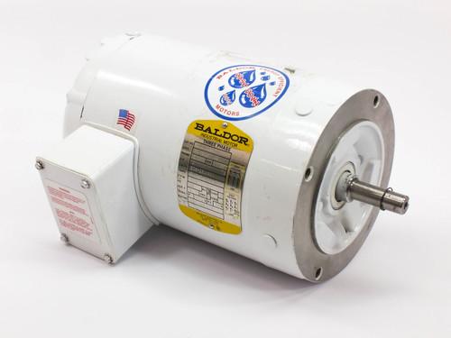 Baldor VWDM3546  AC Motor 1-HP 1725 RPM 3-Phase 208-230/460 VAC Frame-56C