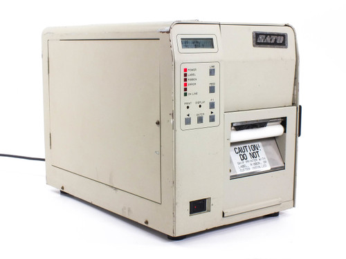 SATO M-8400  Bar Code Printer -AS IS Powers on - For PARTS