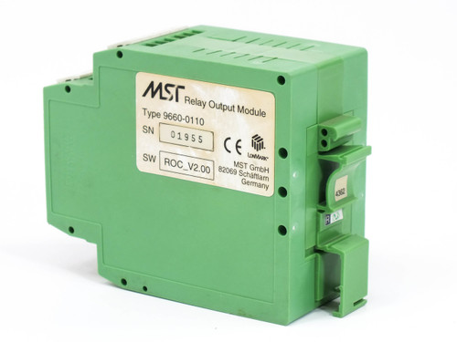 MST 9660-0110  Relay Output Module DIN-Rail Mounting ROC_V2.00