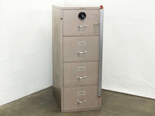 Shaw Walker G1  Vintage 4 Drawer Insulated Fireproof Filing Cabinet with Combination Lock