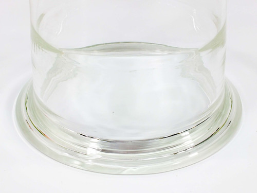 "Quartz Funnel  Laboratory Glassware 0.5"" Stem"