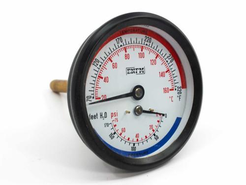 """ENFM   3"""" Tridicator Gauge (Temperature & Pressure)"""