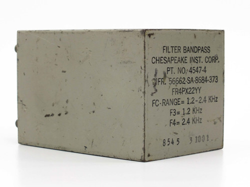Chesapeake inst. Corp 4547-4  Filter Bandpass