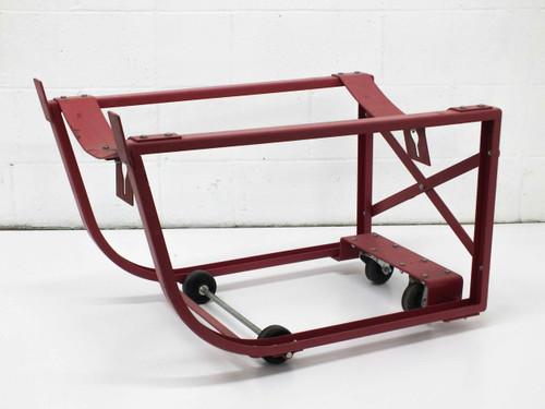 "Red Barrel Drum Transportation Cart on Wheels 32"" x 20"" x 21"""