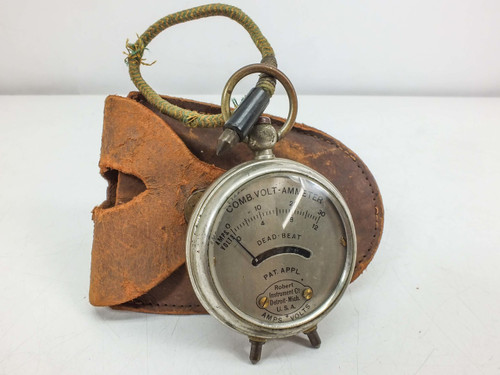 Robert Instrument Co. Pocket  12 Volts, 30 Amps Comb. Volt-Ammeter