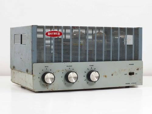 Raymer 4PM35 100 Watt Solid State Amplifier Trutone -AS IS- Bad Tube