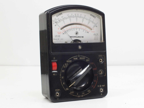 Monarch MT-400  AC/DC Multimeter Voltmeter with Manual and Probes