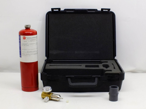 RKI Instuments 81-0076RK-01  Calibration Gas tank w/ regulator and case