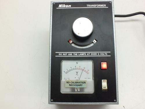 Nikon 0-10 Volt  Microscope Light Source / Illuminator Transformer