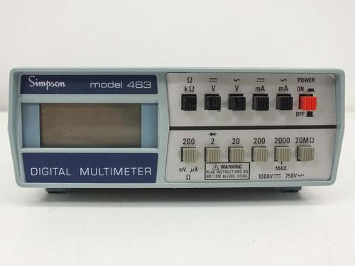 Simpson 463  Digital Multimeter - AS-IS