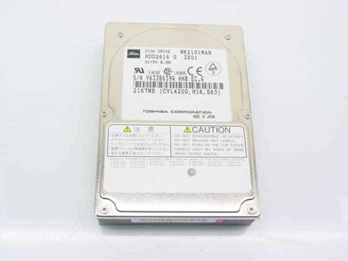 Toshiba 2167MB Laptop Hard Drive (MK2101MAN)