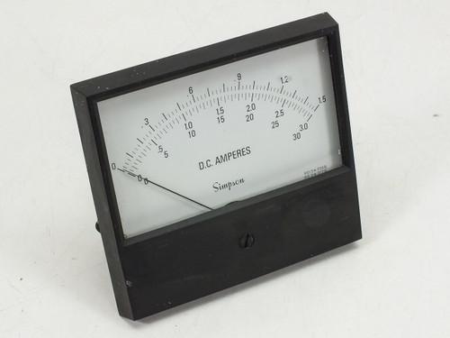Simpson D.C. Amperes  Meter