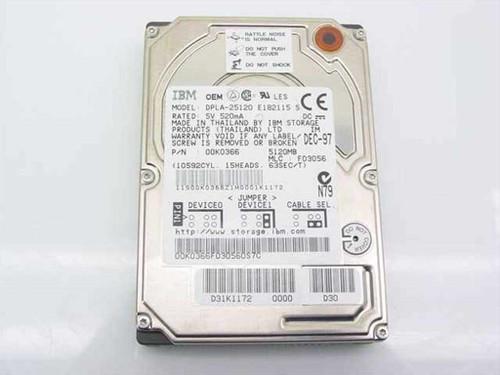 IBM 5120MB Laptop Hard Drive - DPLA-25120 (0K0366)