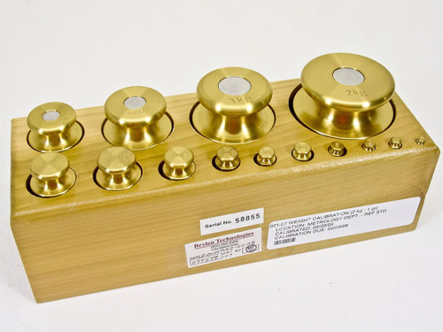 Troemner 302  2kg - 1g 14 Brass Calibration Weight Set