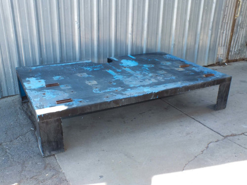 "David A Shulda S-87-443 Steel Heavy-Duty Low Table 96"" x 60"" x 18"""